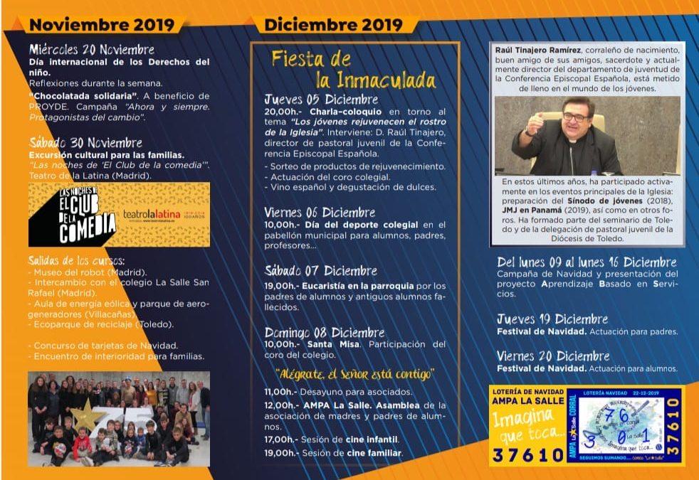 PROGRAMA DE ACTOS FIESTA DE LA INMACULADA