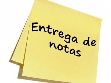 ENTREGA DE NOTAS  – ESO