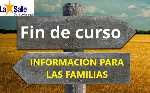 CIRCULAR INFORMATIVA FINAL DE CURSO y LISTA DE LIBROS 2020/2021